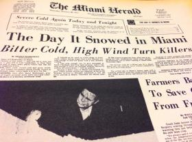 The Miami Herald front page from Jan. 20, 1977
