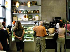 The cafe at Miami Culinary Institute sells coffee, pastries and light dishes during the Miami Book Fair International.