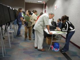 Officials point to long ballots as part of why the tallies are taking so long.
