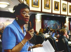 State Sens. Arthenia Joyner (pictured) and Gwen Margolis are trying to get Florida to ratify the Equal Rights Amendment again.