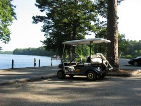 A judge is stopping the release of a story involving top GOP officials, the Bahamas, a golf cart (not this golf cart)... and maybe prostitutes.