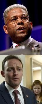 Never Say Concede: Allen West, above, refuses to acknowledge losing to Murphy, below, who's already in Washington for rookie Congressman orientation.