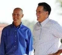 Close Approach: Governor Scott and Mitt Romney appeared at the same rally but not together.