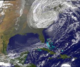 Hurricane Sandy as it appeared on October 29, 2012
