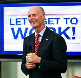 Gov. Rick Scott is Chairman of the Enterprise Florida board. His first term in office has been focused on growing jobs in Florida, but another government contract recently went to an out-of-state firm.