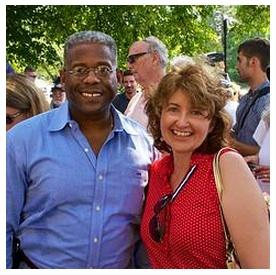 Allen West and his wife, Elizabeth, greet supporters last year.