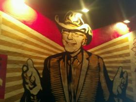 The new mural at the Wynwood Walls by Shepard Fairey memorializes Wynwood developer Tony Goldman.