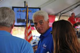 Kelley Mitchell thinks former Gov. Charlie Crist made a press faux-pas with his Friday announcement.