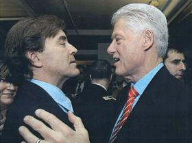 NETWORKING: Claudio Osorio, left, boasted of his political connections to Democrats such as Bill Clinton to potential investors.