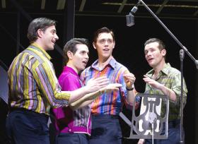 JERSEY BOYS: The strike's over and the documentary-style musical about the 60s band The Four Seasons is on stage for 21 performances at the Kravis Center.
