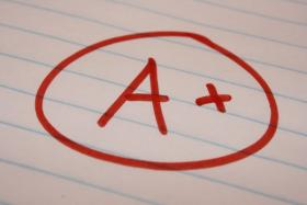 This year the number of 'A' grades for high schools raised from 31 percent to 47 percent.