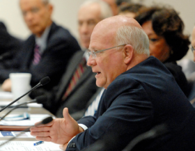 Judiciary Committee Chairman Rep. Dennis Baxley commenting at a 2012 panel discussion in Tallahassee.