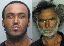 WEIRD STORY PRINCIPALS: Naked cannibal Rudy Eugene, left, and victim Ronald Poppo.