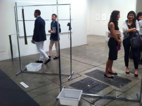 Two Coat Racks: Some were puzzled by this Art Basel exhibit at the Miami Beach Convention Center.