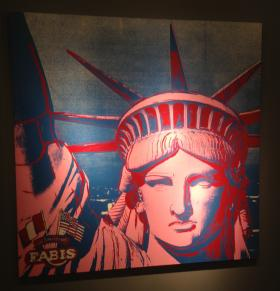 SOLD AT ART BASEL: Manhattan gallery owner Christophe Van de Weghe got $3.8 million for this 'Statue of Liberty' by Andy Warhol