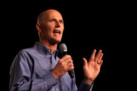 TOO SOON? Gov. Scott is in early campaign mode thanks to Charlie Crist's party switch.