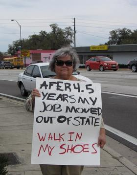 HARD TIMES: The Florida unemployment rate has been reduced mostly by discouraged workers abandoning the job search.