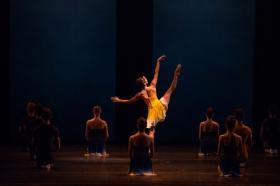 Miami City Ballet dancers in the world premiere of Liam Scarlett's