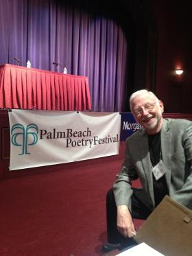 NOT MELANCHOLY: Palm Beach Poetry Festival director Miles A. Coon.