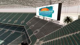 SUN LIFE 2.0: Rendering of one aspect of the stadium remodel: modular seating for a Super Bowl.