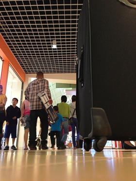 A view from one of the many luggage kiosks at Sawgrass Mills.