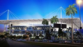 An artist's rendering of a renovated Sun Life Stadium