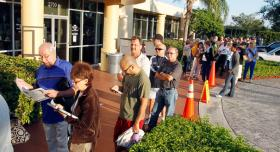 THE WAIT: Bills to re-expand early voting to eliminate lines like this one in Doral are accumulating in Tallahassee.