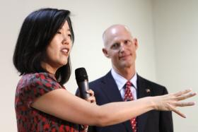 PARTNERS: StudentsFirst founder Michelle Rhee has advised Florida Gov. Rick Scott. Her group is recommending changes to Florida education policies