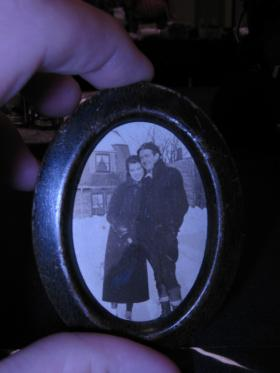 REMEMBERING HER: Photo found in her safe depot box with her salt shakers is thought to be Udavilla Rutherford herself.