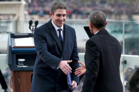 Richard Blanco says this handshake gave him a lot of confidence on inauguration day.