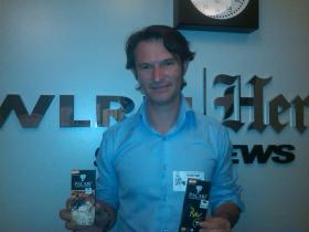 Santiago Peralta of Ecuador's Pacari Chocolate brings his sweet treats into the WLRN-Miami Herald Studios.