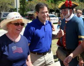 AMONG FRIENDS: Tea Party support catapulted candidate Marco Rubio to the U. S. Senate in 2010.