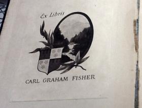 Carl Fisher's bookplate.