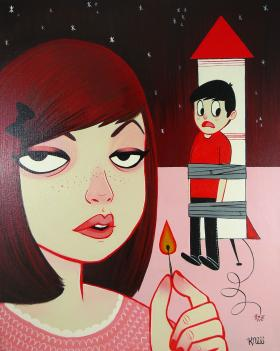 Danielle Estefan's 'Need Some Space' is included in the Girls vs. Boys show currently at Bear + Bird Boutique + Gallery in Lauderhill.