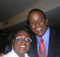 Dr. Deborah R. Brown with former congressman Kendrick Meek.