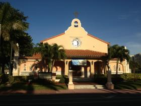 """Miami Beach's St Joseph's Catholic Church, in the heart of """"Little Buenos Aires"""""""