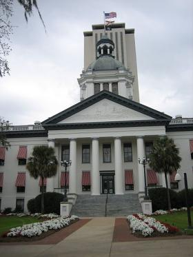 The Capitol buildings in Tallahassee.
