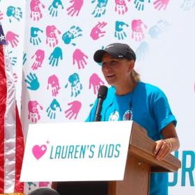 Lauren Book ended her 1,500 mile walk in Tallahassee Tuesday. She took the podium after a round of hugs.