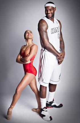 This recent photo featuring Lebron James is part a local and national campaign between the Miami Heat and world-renowned Miami City Ballet.