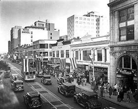 Flagler Street in downtown Miami in 1935.