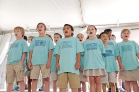 Students from Freedom Shores Elementary School participate in one of the CCE programs.