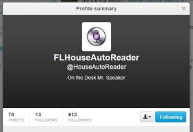 'Mary' was introduced in the House this week. The-auto reader has its own Twitter account with hundreds of followers.