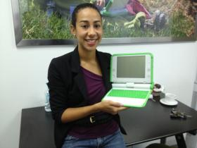 Melissa Henriquez works with One Laptop Per Child in Miami.
