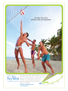 A Tinsley ad for Key West targeting gay men.