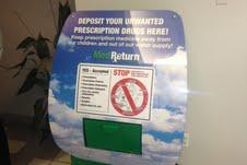 Twenty-two drop boxes like this one give Palm Beach County residents places to safely dispose of their old prescription medications.