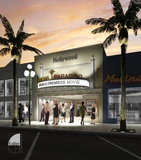 A rendering of the future Cinema Paradiso