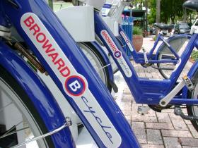 Broward B-Cycle station on Las Olas Boulevard in Fort Lauderdale.