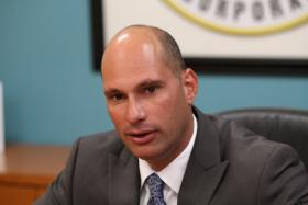 City of Sweetwater Mayor Manny Maroaño at a press conference at Hialeah City Hall on Wednesday, January 30, 2013.