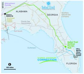 Part one of FPL's pipeline project would stretch from Alabama to a hub just south of Orlando. Part two would continue on to Martin County. State regulators could approve the project before the end of the year.