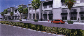 Designs for the proposed Midtown Miami Wal-Mart. The store would be located between Midtown Boulevard and North Miami Avenue from Northeast 29th and 31st streets.